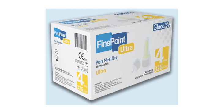 GlucoRx FinePoint Insulin Pen Needles