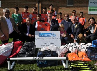GlucoRx Help To Fund Eight New Children's Football Teams