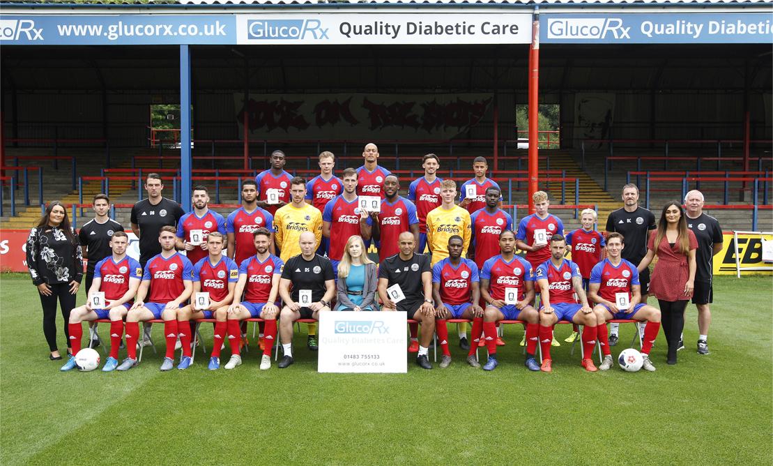 Aldershot FC and glucorx banner image